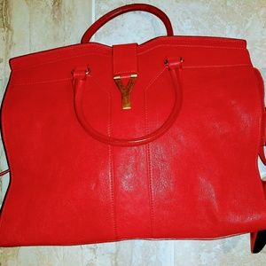 8ce4d5098ea6 SOLD ON TRADESY😒😒😒YSL Cabas Extra Large Red Authentic Chanel Medallion  Tote ...